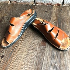 FINN COMFORT GOMERA Brown Leather Sandals Shoes 37